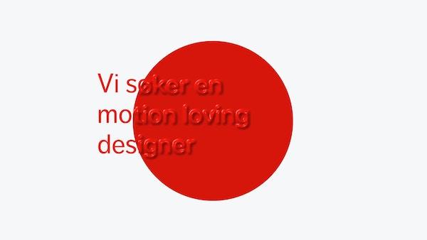 Stillbilde for video - ledig stilling motion designer