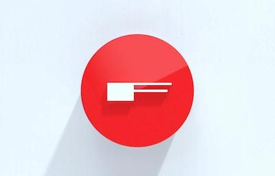 Fasett logo med skygge