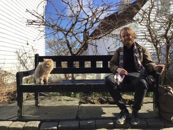 Martin Bruras and cat