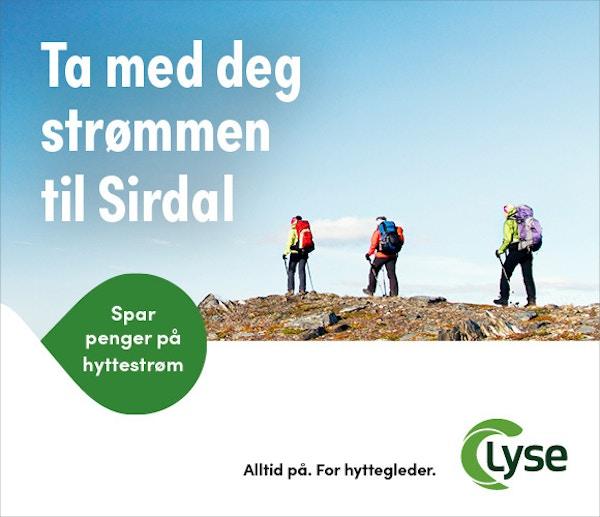Lyse Hyttestrom Sommer TAKTISK GDN 580x500 SIRDAL
