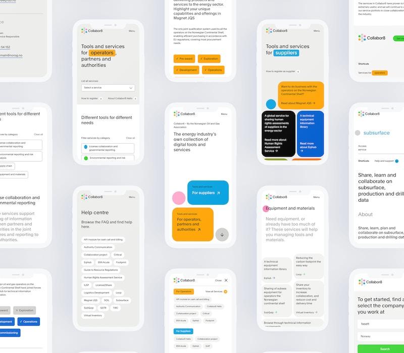 Eksempelbilder - Collabor8.no på mobil