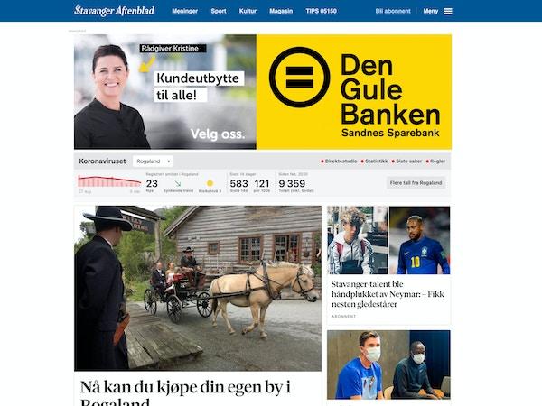 Annonse - Den Gule Banken - Stavanger Aftenblad